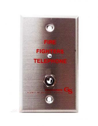 NEW FIREFIGHTERS TELEPHONE WALL PLATE EDWARDS  6833-4